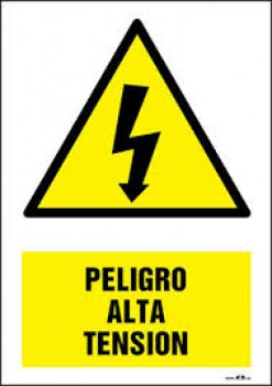 CARTEL ALTA TENSION